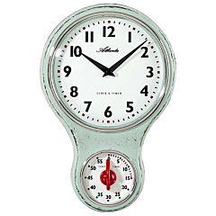 Nostalgische keukenklok met timer 6124-6A