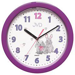 Kinderklok paars met konijnen HP612-D2J