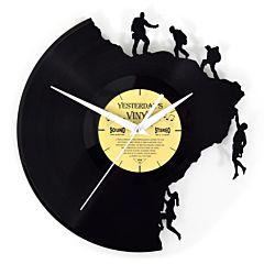 lp klok, vinyl klok met bergbeklimmers 601-3214