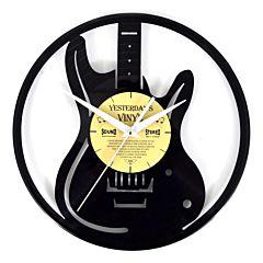lp klok - vinyl wandklok gitaar