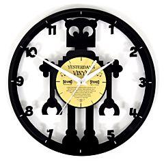vinyl klok - lp klok met robot 601-3205