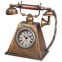 Tafelklok antieke telefoon