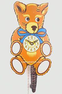 Miniatuur klokje teddybeer