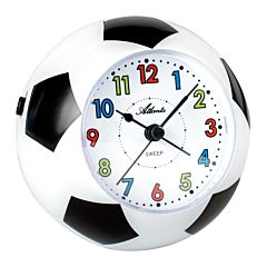 Voetbal wekker zwart-wit 1199A