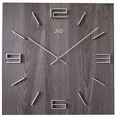 Vierkante wandklok grijs hout motief HC36-2J