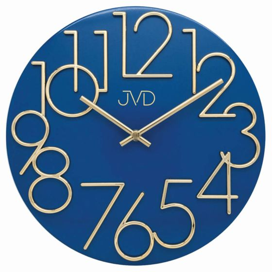 Blauwe wandklok HT23-3J