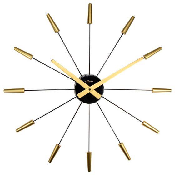Design wandklok plug-in goud-zwart NE2610GO