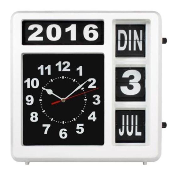 Nederlandstalige kalenderklok WCF1603-1NL