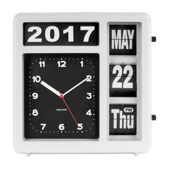 Flip kalenderklok KA5693WH