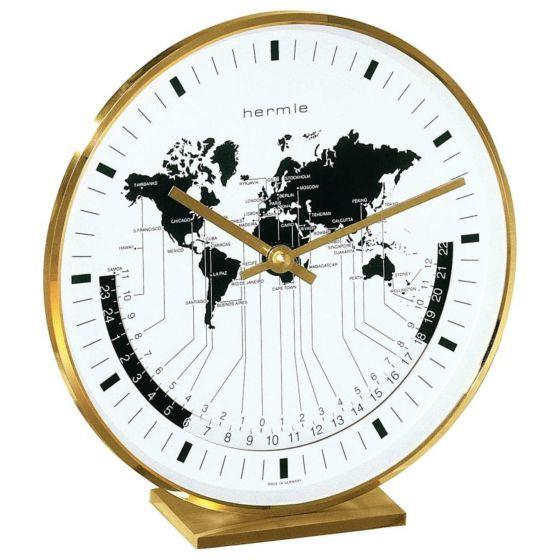 Tafelklok met wereldtijden 22704-002100