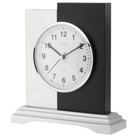 Tafelklok zwart-zilver hout HS19012-1J