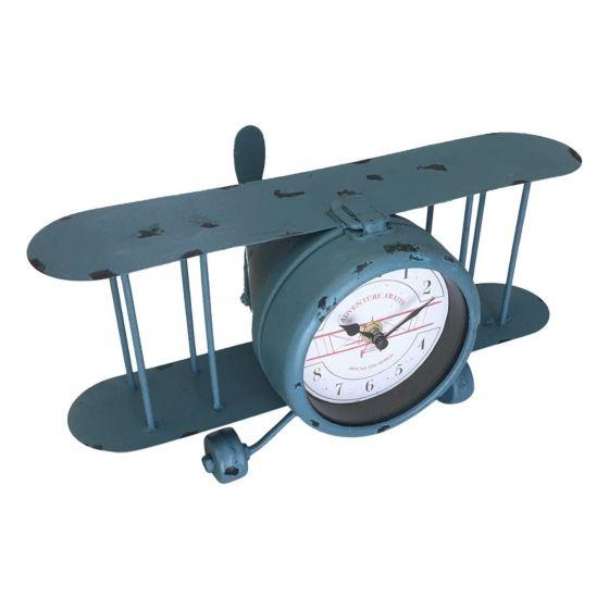 Vliegtuig klok - tafelklok 1803246