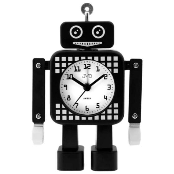 Zwarte robot kinderwekker SRP2304-3J