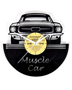 Lp vinyl wandklok muscle car 601-3241