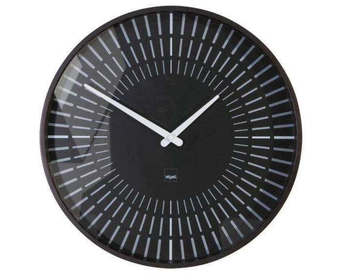 Zwarte design wandklok WU111SI