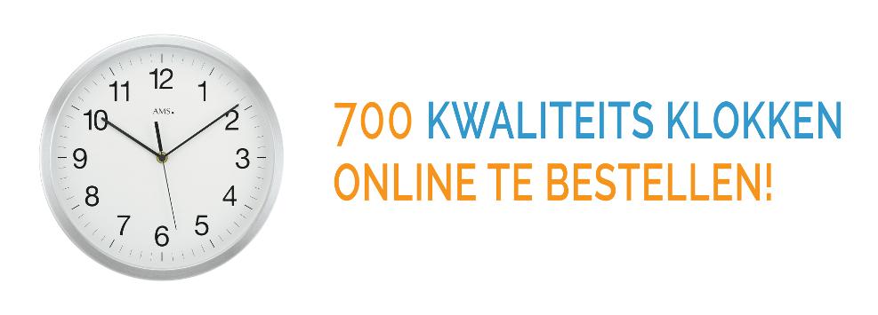 700 kwaliteits klokken online te bestellen!